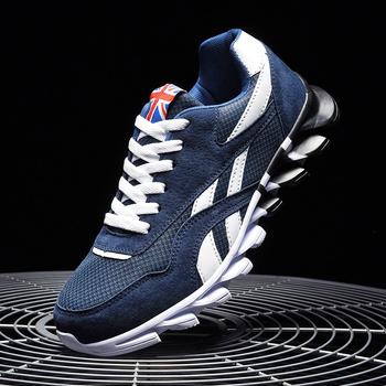 2020 nowych mężczyzna sneakers buty sportowe na świeżym powietrzu wygodne i modne duży rozmiar czerwone światło do biegania turystyka klasyczny styl tanie i dobre opinie ZFSRCN Mesh (air mesh) CN (pochodzenie) Przypadkowi buty Lace-up Pasuje prawda na wymiar weź swój normalny rozmiar Podstawowe