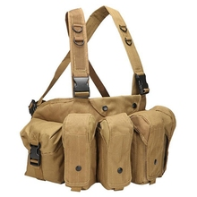 Tactical Vest Magazine Chest Rig Military Airsoft Carrier Paintball Combat Camouflage
