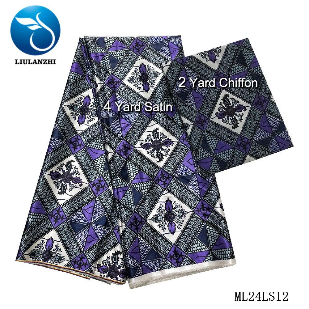 LIULANZHI Сатиновые вечерние платья в африканском стиле, принтованная Ткань для шитья, нигерийский сатиновый дизайн 2019, новые Сатиновые африкан
