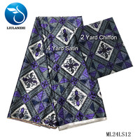 LIULANZHI Satin African Party Dress Printed Sewing Fabric Nigerian Satin Design 2019 New Satin African ML24LS01 13