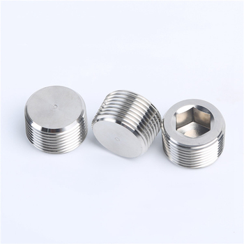 304 Stainless Steel Hexagon Pipe 1/8 1/4 3/8 1/2 3/4 1 - 2 BSPT / NPT Male Countersunk End Plug Fitting Water Gas Oil image
