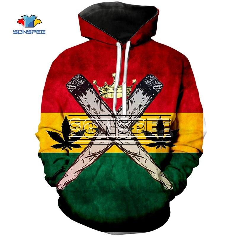 SONSPEE Print 3D Clothing Bob Marley Tshirt/Sweatshirt/Hoodies/Zipper Hoodie Harajuku Sweatshirt Yellow Weed Mens Womens Pullove