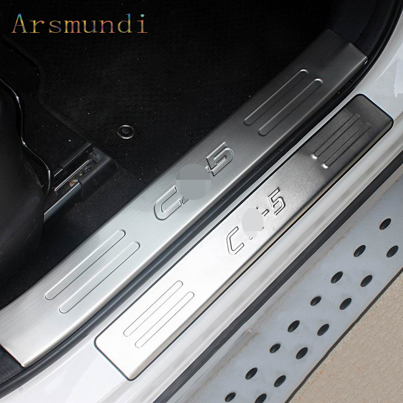Auto Accessories Fit for <font><b>Mazda</b></font> CX-5 <font><b>CX5</b></font> 2012 2013 2014 2015 <font><b>2016</b></font> Stainless Steel Door Sill Scuff Plate Welcome Pedal Threshold image