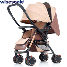 Wisesonle two way baby stroller ultra light umbrella stroller folding portable trolley Free shipping
