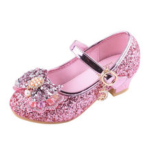 girls sandals Infant Kids Baby Girls Pearl Crystal Bling Bowknot Single Princess Shoes Sandals sandale enfant fille Dropshipping(China)