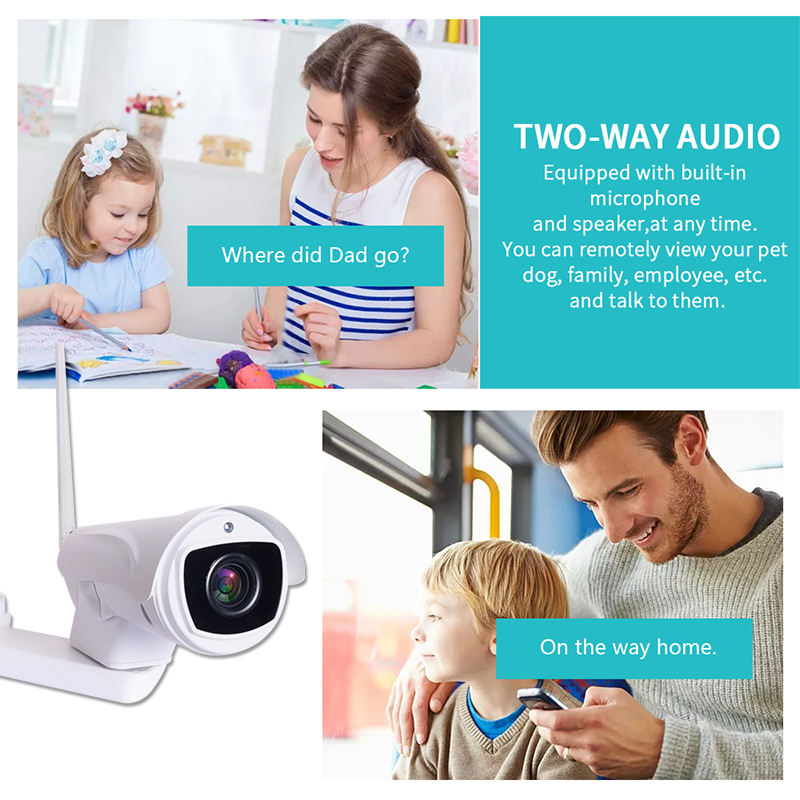 2MP Outdoor PTZ Bullet Security WiFi IP Camera Onvif 1080P HD Bullet WiFi Wireless Camera Weatherproof SD Card Slot in Surveillance Cameras from Security Protection