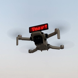 Image 1 - Billboard Display installation DIY Halterung Für DJI Mavic Mini Quick Release LED abzeichen halterung Drone Ständer Zubehör