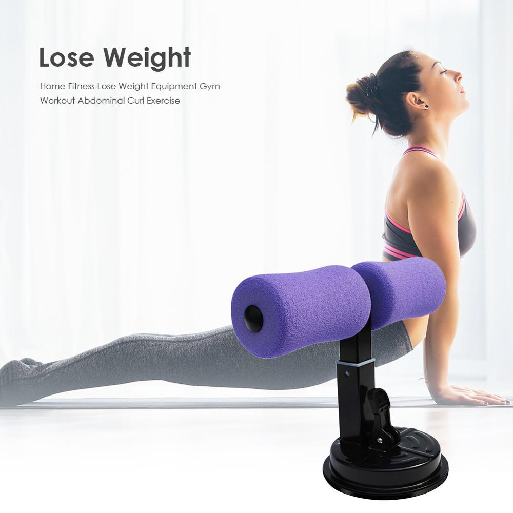 Hot Sale Sit-Up Bar With Suction Cup Padded Cushion Floor Fitness Bar Abs Trainer Workout Equipment For Home Work Wholesale
