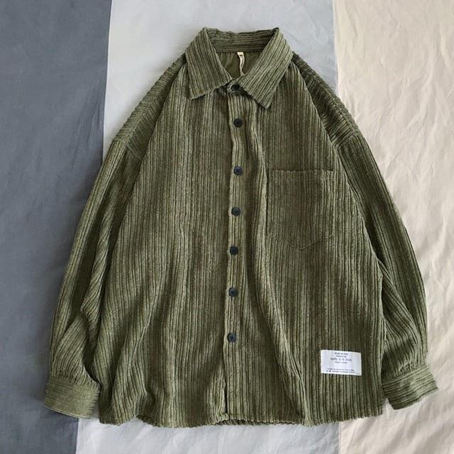 Corduroy Long Sleeve Casual Shirt 4