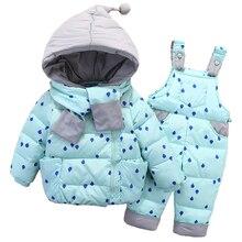 OLEKID 2019 בני תינוק חורף חליפת שלג ילדים למטה סרבל מעיל שלג חליפת 1 4 שנות ילדים בנות מעיל בגדים סט תינוק חליפה