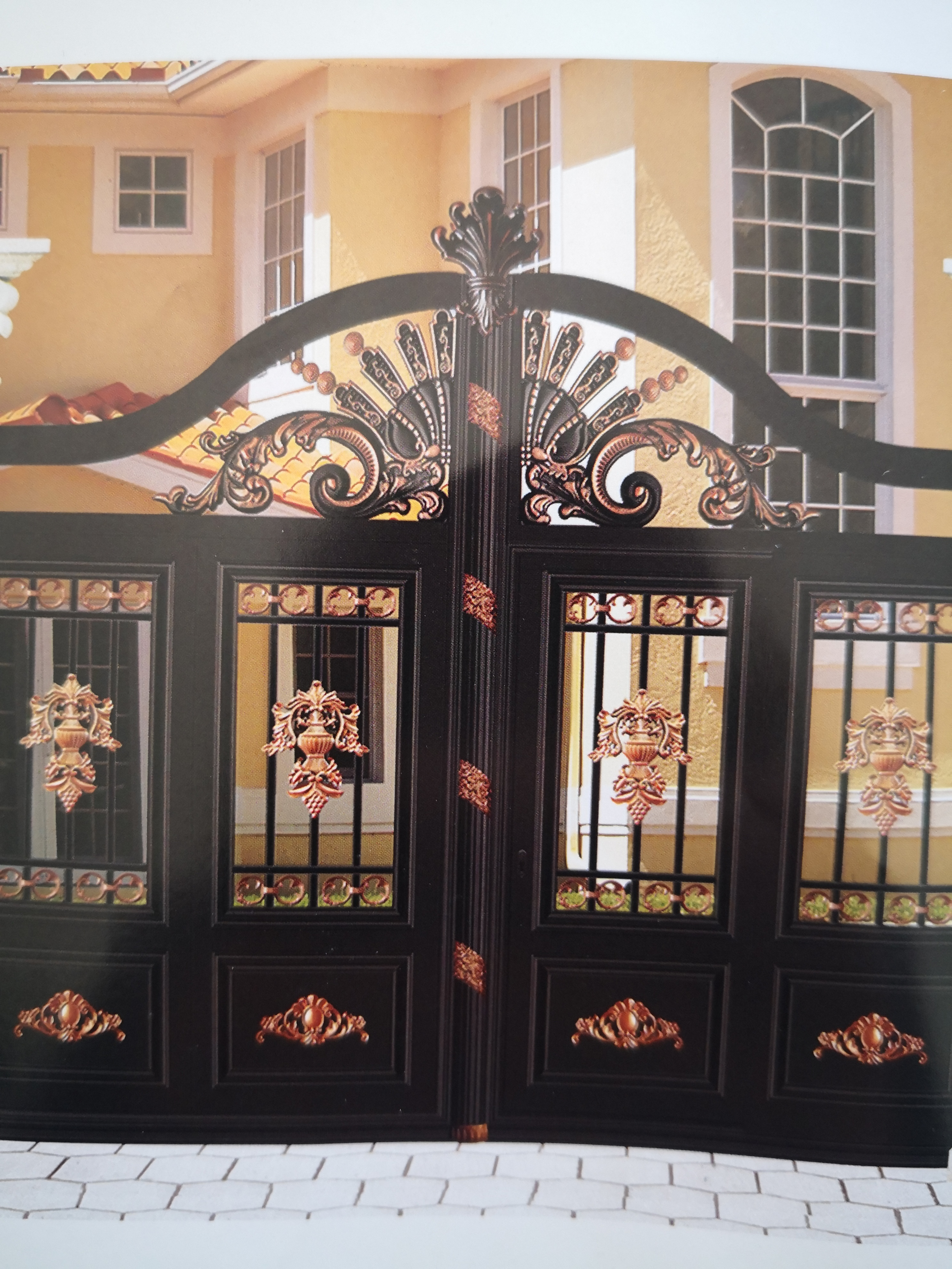 Shanghai Hench  Custom USA Australia Home Use Decorative Aluminium Steel Side Gates