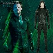 Costume Cosplay de Green Arrow saison 8 olivier Queen, Costume dhalloween de super héros, accessoires pour Cosplay