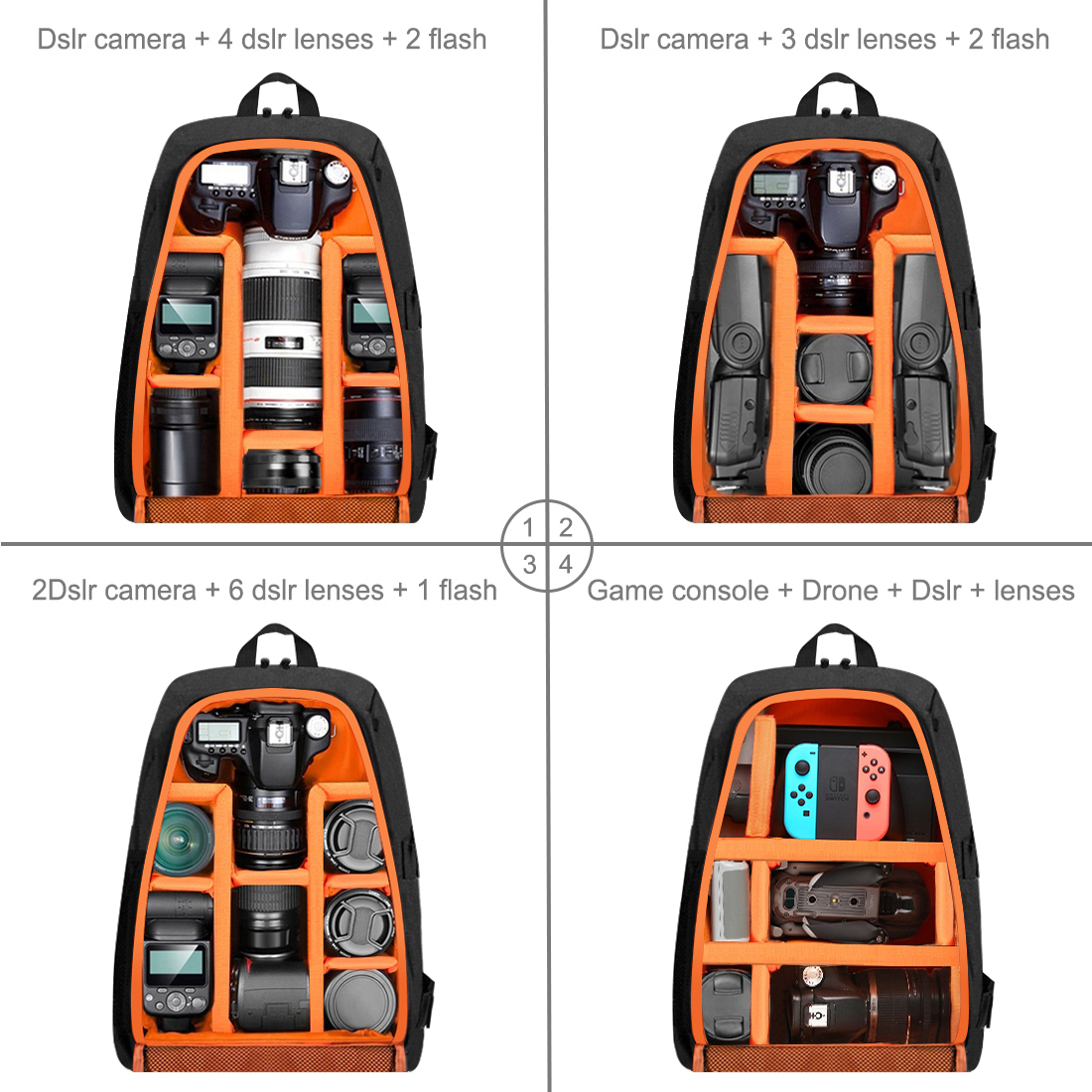 Photographer's heavy-duty camera backpack