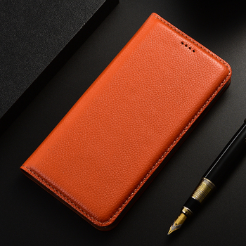 Litchi Genuine Leather case For Xiaomi Redmi Note 2 3 4 5 6 7 8 8T 9 9S Pro Max K20 K30 Pro S2 Go Flip Wallet Phone Cover coque