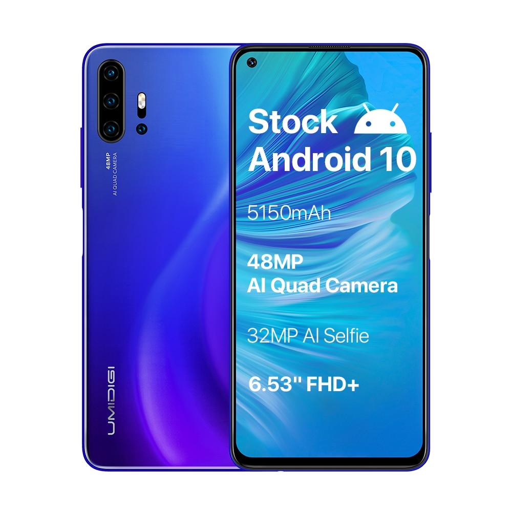 "UMIDIGI F2 Android 10 Global Version 6.53""FHD+6GB 128GB 48MP AI Quad Camera 32MP Selfie Helio P70 Cellphone 5150mAh Mobile Phone"