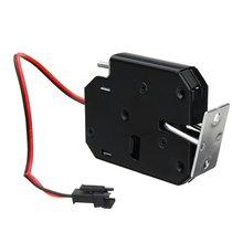 цена на 150KG/330lb Electric Magnetic Lock Door Access Control DC 12V Cabinet Drawer Electromagnetic Lock with Emergency Unlock