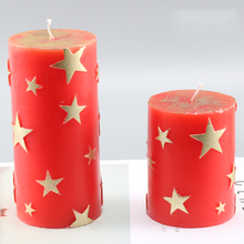 Funny DIY pentagram pattern candle making cylindrical form diy moulds kaarsen maken mold for home decoration lz45