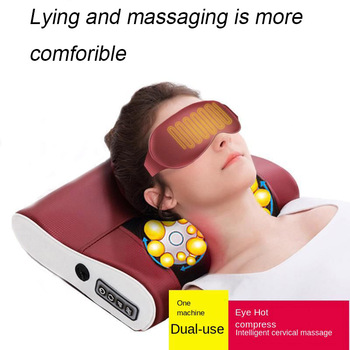 Neck Massager Multi-Function Kneading Heating Warm Soothing Waist Body Electric Massage Pillow Shoulder Back Household Cushion