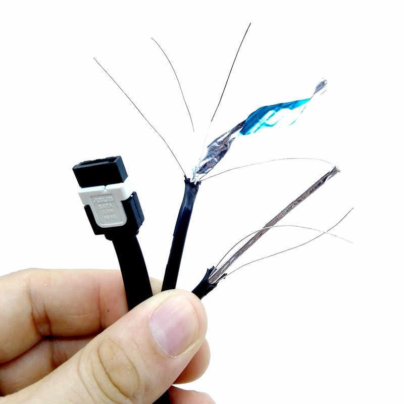 2 piezas 45CM SATA 3,0 III SATA3 6 Gb/s SSD datos directos duros/Cable de ángulo recto 2019