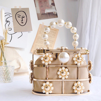 Pearl Basket Clutch Bag