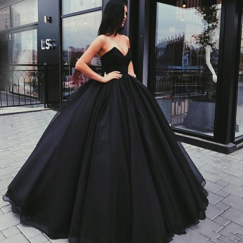 Black 2019 Muslim Wedding Dresses Ball Gown V-neck Tulle Backless Boho Cheap Wedding Gown Bridal Dresses Vestido De Noiva