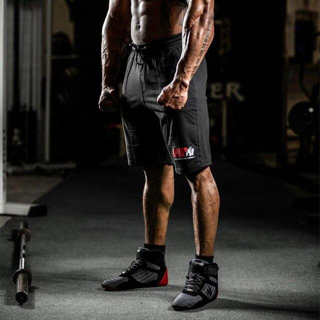 Men Running Sport Cotton Shorts Gym Fitness Workout Training Sportswear Male Short Pants Knee Length Beach Sweatpants Bottoms 4