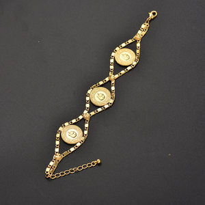 Image 4 - Length 24CM Turkey Coin Bracelet for Women Gold Color Turks Simgesi Osmanli Turasi Muslim Islam Bangle Arab Jewelry African