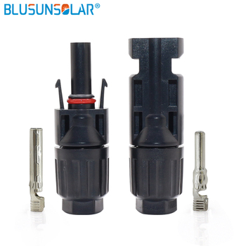 Pair of Solor Plug Solar Cable Connectors (male and female) for Solar Panels and Photovoltaic Systems