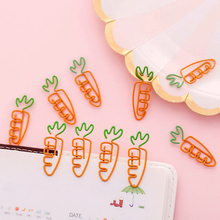 10pcs/lot Kawaii Carrot Shape School Office Supply Paper Clip Bookmark Gift Stationery For Book Accessories Teacher Gifts