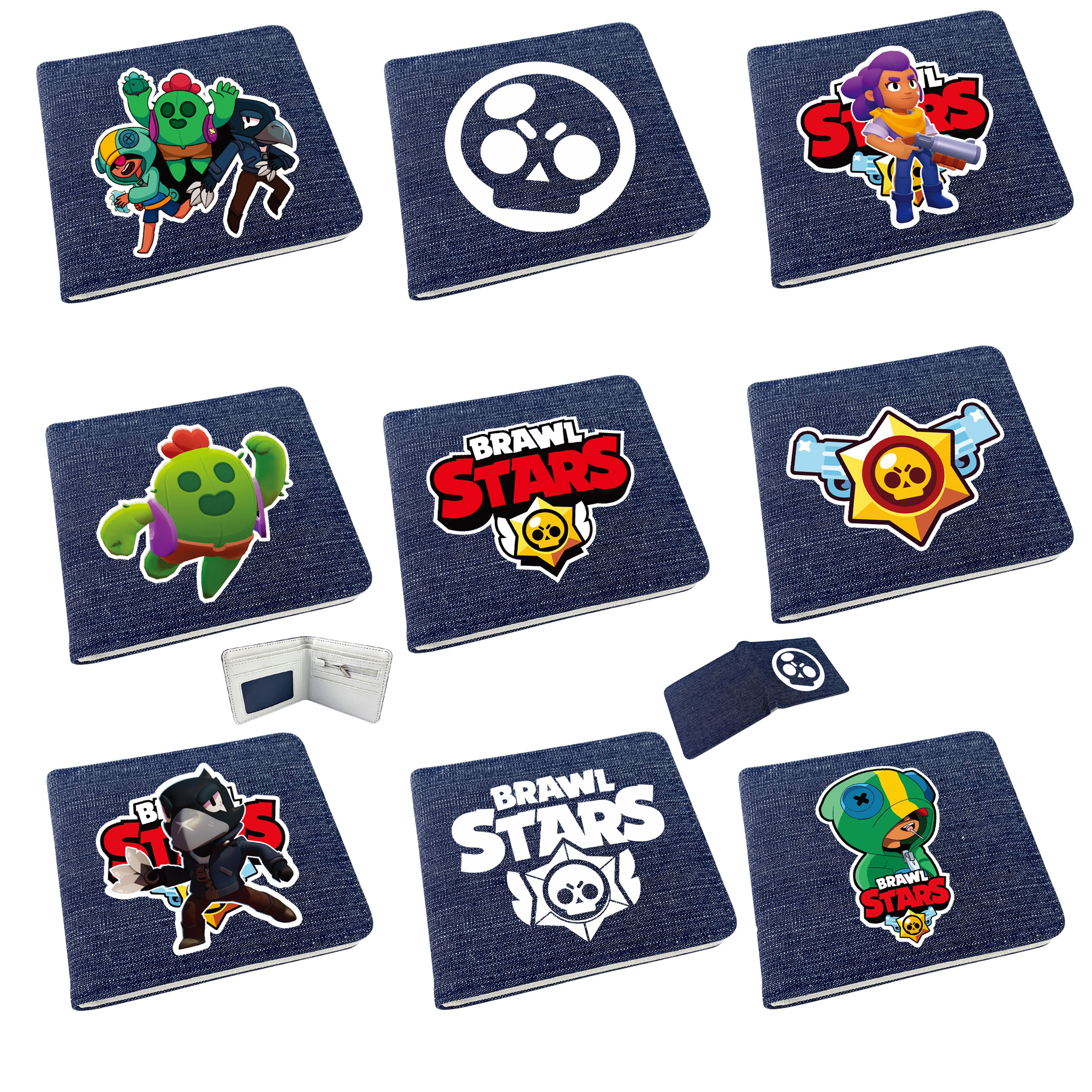 Brawl Star Games Wallet Cartoon Purse Long Coin Purse Card Holder Money Clutch Wristlet Child Cover Organizer Wallet Card Holder