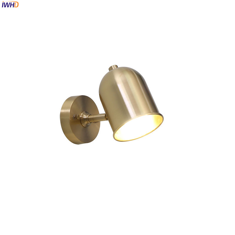 IWHD Nordic Gold Copper Wall Lamp Bedroom Bathroom Mirror Stair Light Modern LED Wall Lights Fixtures Aplique Pared Wandlamp|LED Indoor Wall Lamps| |  - title=