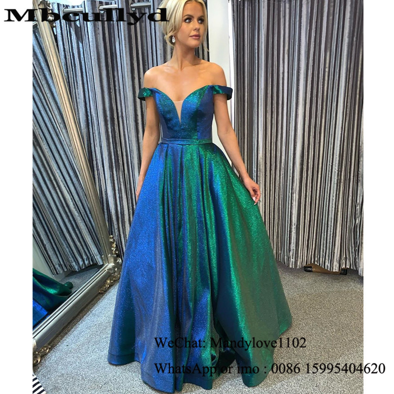 Mbcullyd Shining A-line Prom Dresses Long 2020 Gorgeous Sequined Backless Evening Dress Pageant Formal Gown Vestidos De Fiesta