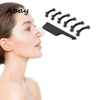 Abay New 3Pairs 6Pcs Invisible Nose Shaper Lifting Straightener With Nose Clip Corrector Clip Painless Straightening фото