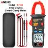 ANENG ST183 Dati Mostrano Digital Clamp Meter AC Corrente 6000 Conti Multimetro A Vero RMS DC/AC Tester di Tensione Hz capacità NCV Ohm