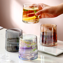250ml clear crystal glass cup high temperature resistant glass cup home living room drinking cup short flower tea cup