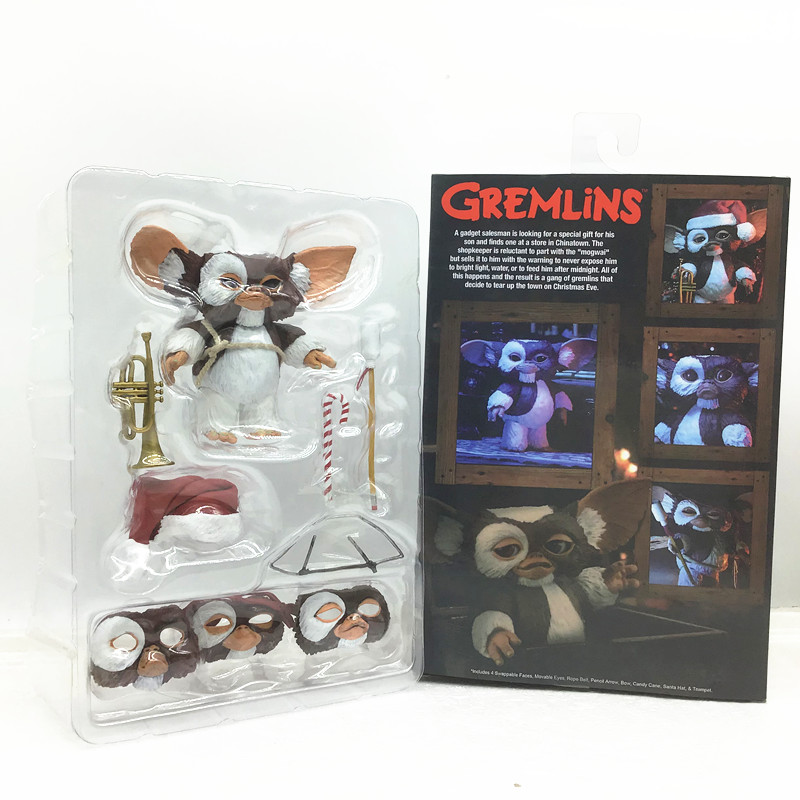 12cm/4.8inch NECA Movie Gremlins Christmas Edition Gremlins PVC Action Figures Model Toys Gift Doll
