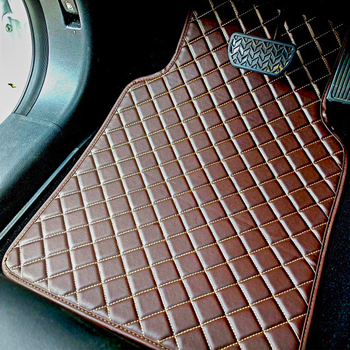 Universal Leather Car Floor Mats Car-Styling Car Interior Accessories Mats Floor Carpet Floor Liner floor mats liner 4 5d molded black fits nissan qashqai 2014 rubber floor mats