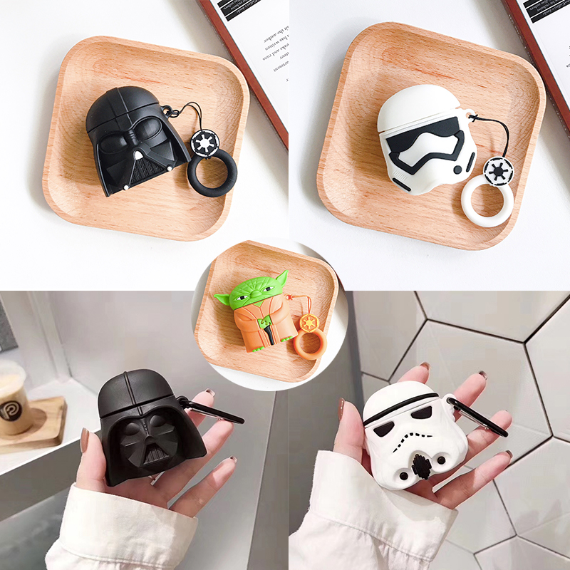 Darth Vade Anakin Skywalker Star Wars Wireless Earphone Charging Case For Apple AirPods 1 2 3D Soft Silicon Bluetooth Headset