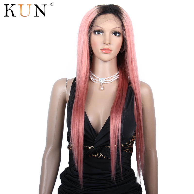 #1b Pink Ombre Human Hair Wig 13x4 Lace Front Human Hair Wigs Straigjt & Ocean Wave Remy Lace Front Wig Brazilian Glueless Wig