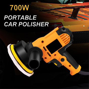 700W Grinder Electric Auto Mini Polishing Machine Car Polisher Orbit Sanding Machine Adjustable Speed Waxing Power Tools image