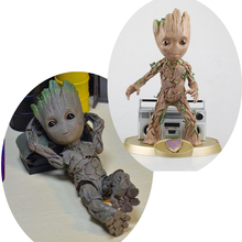 26cm Marvel Anime figure 1:1 Action Tree Man Baby Groot Doll Marvel Movie  Model Figure toy collectible for gift single sale 41 cm iron man series movie thanos resin action figure kids adults collectible toys garage kit toy movie character
