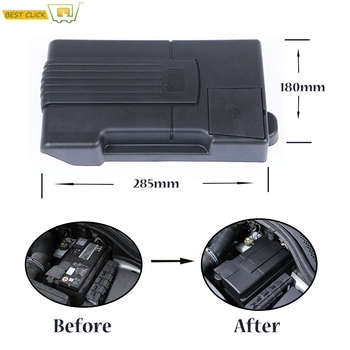 Cars Engine Battery Anode Electrode Cover For VW Volkswagen Touran Tiguan L Passat B8 SEAT Ateca Leon Mk3 Rustproof Shell Guard image