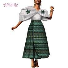 Модный женский комплект из 2 предметов с Африканским принтом