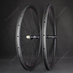 Image 3 - Special Brake 12k Finish Climbing Front Rear Carbon Road Bicycle Wheels With Novatecs AS61cb/FS62cb Carbon Hubs Straight Pull