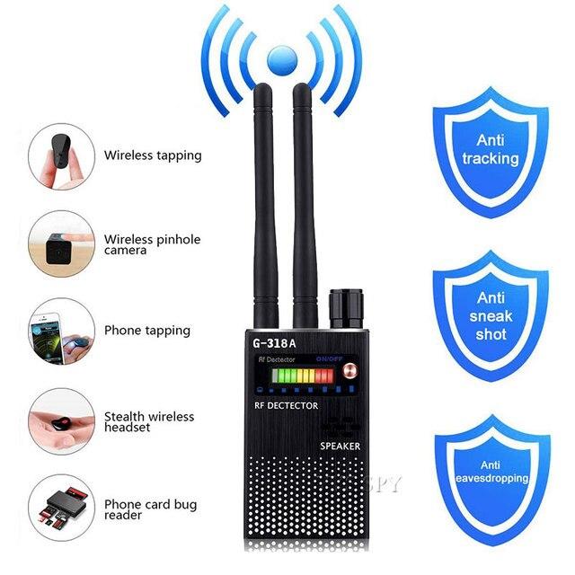 Dual Antenna RF Signal Anti Spy Hidden Camera Anti Candid Camera Detector Eavesdropping Pinhole Audio Bug GPS GSM Device Finder 4