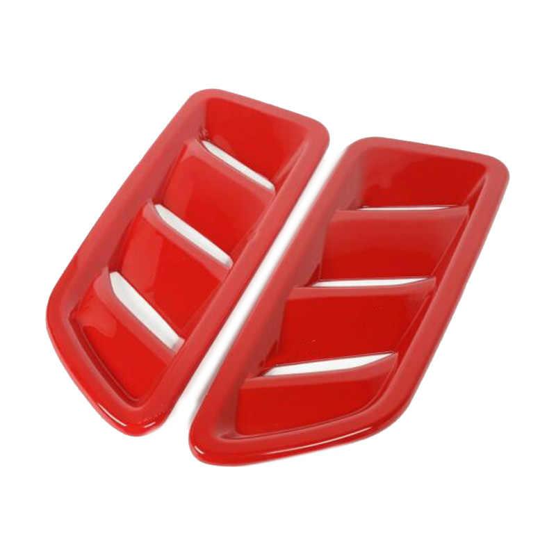 2 шт. ABS красная Автомобильная крышка для воздуховода Накладка для Jeep Wrangler JL2018-2019 автомобильные аксессуары двигатель вентиляционное отверстие выход крышка отделка