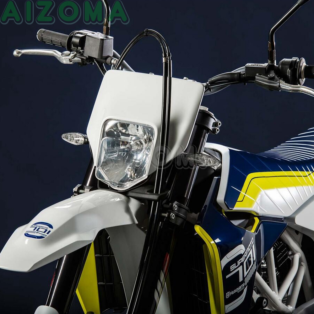 Universal White 12v 35w Motocross MX Enduro Headlight For KTM SMR EXC Husqvarna FE TX TE 125/150/250/300/350/450/501 701 Supermoto Headlamp 2017-2019