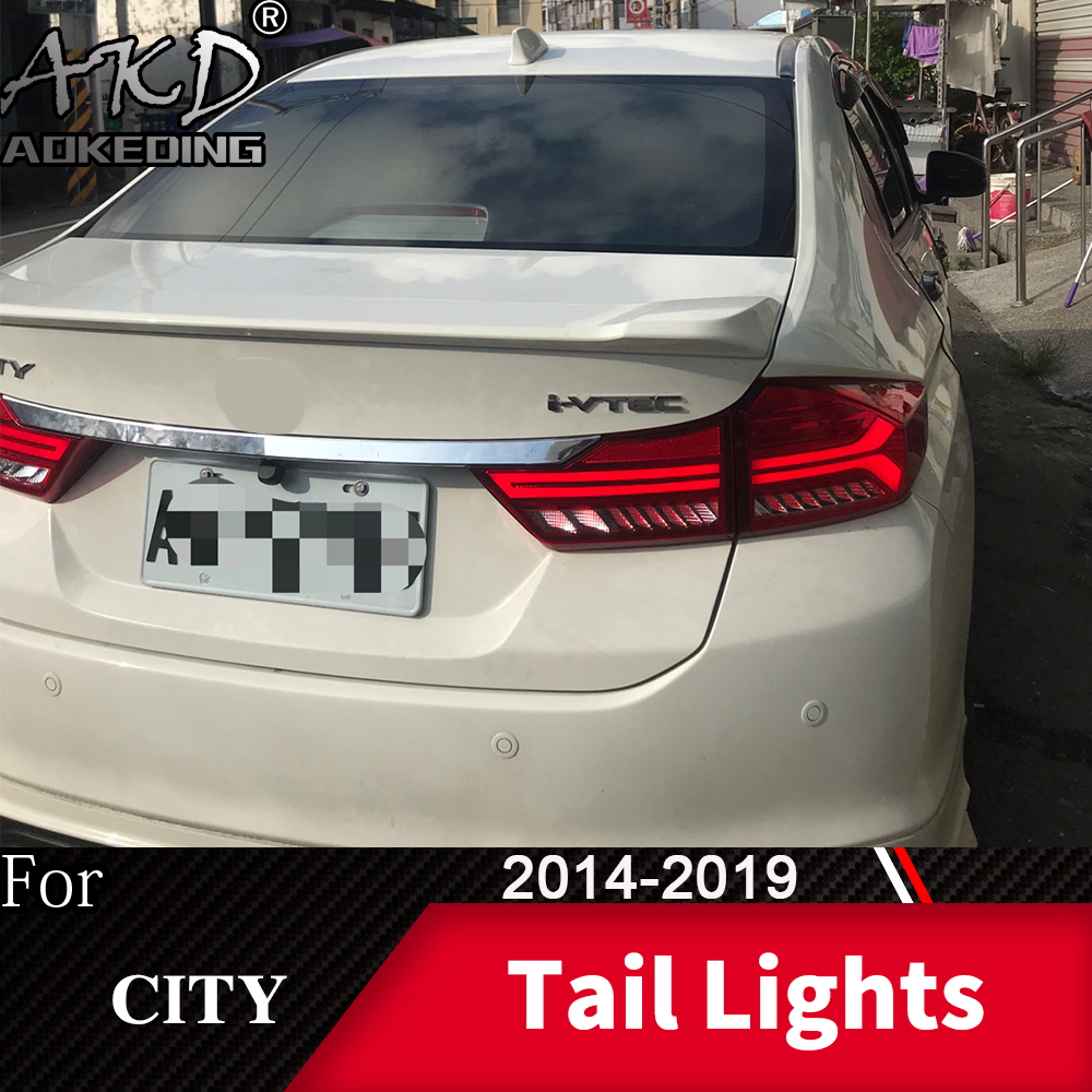 Tail Lamp For Car <font><b>Honda</b></font> <font><b>City</b></font> 2014-2019 <font><b>City</b></font> <font><b>LED</b></font> Tail Lights Fog Lights Daytime Running Lights <font><b>DRL</b></font> Tuning Cars Accessories image