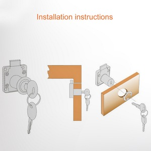 Cylinder Cam Drawer Lock Desk Wardrobe Cabinet Locker Furniture Hardware with Keys