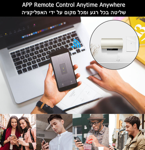 Image 4 - Smart Life Wifi Boiler Water Heater Switches 4400W 20A Voice Control Works Alexa Google Home Timer Function Tuya For Israel